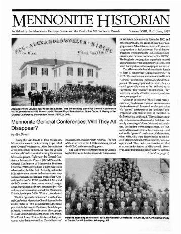 Mennonite Historian Vol. 23 No. 2