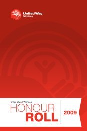 2009 Honour Roll - United Way of Winnipeg