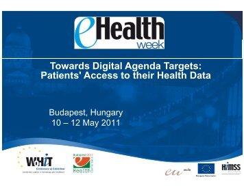 Towards Digital Agenda Targets: Patients ... - World of Health IT