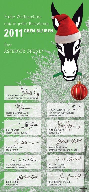 Frohe Weihnachten und in jeder Beziehung ... - Die Grünen