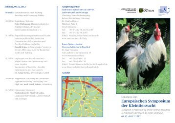 Europäischen Symposium der Kleintierzucht - EE Europaschau ...