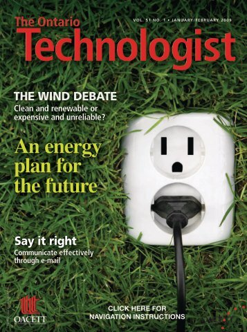 An energy plan for the future - oacett