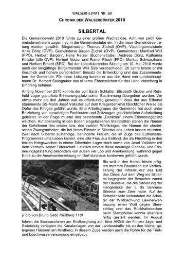 Chronik der Gemeinde Silbertal für das Jahr 2010 - Vorarlberger ...