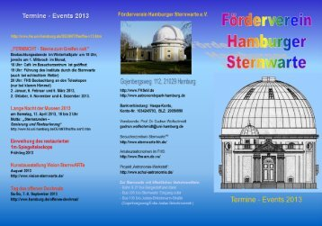 Flyer - Hamburger Sternwarte - Universität Hamburg