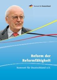 Reform der Reformfähigkeit - Konvent für Deutschland