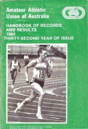 Athletics Australia Almanac - 1983