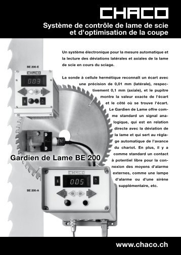 www.chaco.ch Gardien de Lame BE 200