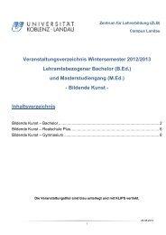 Bildende Kunst - Universität Koblenz · Landau