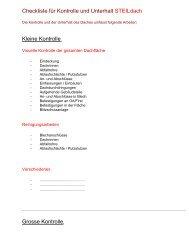 Checkliste Steildach