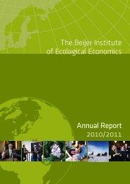 The Beijer Institute of Ecological Economics Annual Report 2010/2011