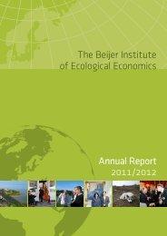 The Beijer Institute of Ecological Economics Annual Report 2011/2012