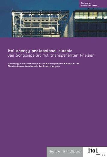 1to1 energy professional classic Das Sorglospaket mit - BKW