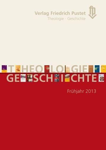Verlagsvorschau Frühjahr 2013 - Pustet Verlag