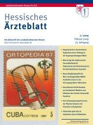 Hessisches Ärzteblatt Februar 2009 - Landesärztekammer Hessen