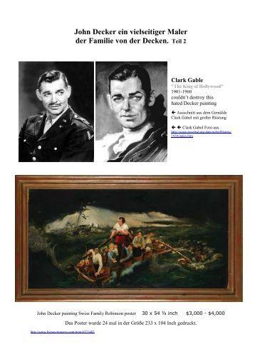 John Decker ein vielseitiger Maler der Familie von der Decken. Teil 2