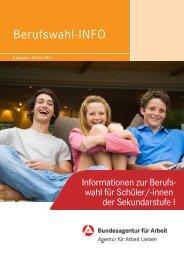 Berufswahl-INFO - planet-beruf regional - Planet Beruf.de