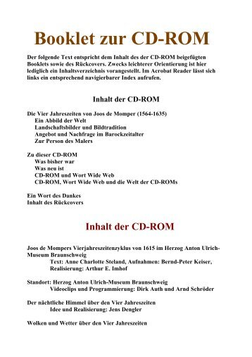 Booklet zur CD-ROM - Userpage
