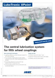 LubeTronic 5Point The central lubrication system for ... - JOST-World