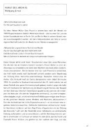 KUNST DES ARCHIVS Wolfgang Ernst - Medienwissenschaft