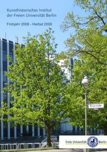 Kunsthistorisches Institut der Freien Universität Berlin - Fachbereich ...