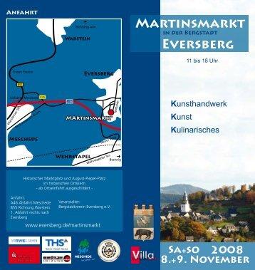 8.+9. NOVEMbER MARTINsMARkT - Eversberg