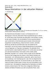 Neue Abstraktion in der aktuellen Malerei - Sebastian Fath ...