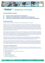 """""""KidSch"""" - Künstler/innen in die Schulen - Zukunftsbau GmbH"""