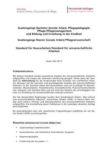 Standard Hausarbeit - Hochschule Esslingen