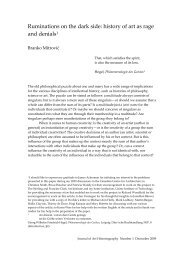 Branko Mitrović - Journal of Art Historiography