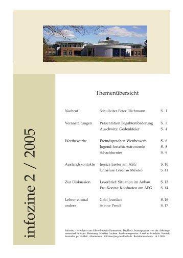 infozine 2 / 2005 - Albert Einstein Gymnasium