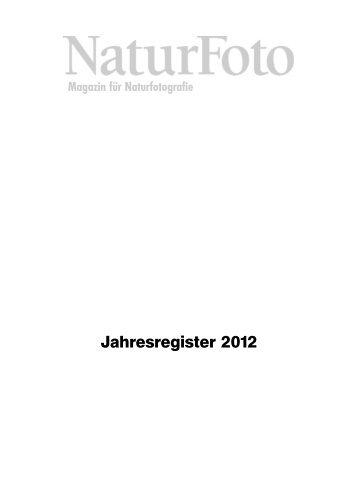 NaturFoto Jahresregister 2012 - Tecklenborg Verlag