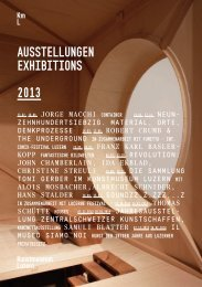 Jahresprogramm 2013 - Kunstmuseum Luzern