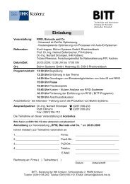 Einladung - Bluhm Systeme Gmbh