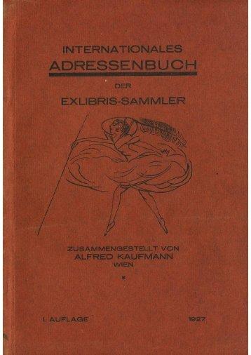 Kaufmann - Sammler-Adressbuch 1927 - Antiquariat Rieger