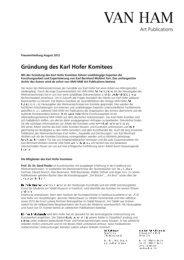 Karl Hofer Komitees - VAN HAM Kunstauktionen