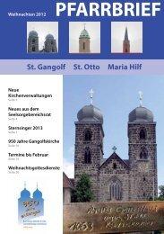 Weihnachten 2012 - St. Gangolf