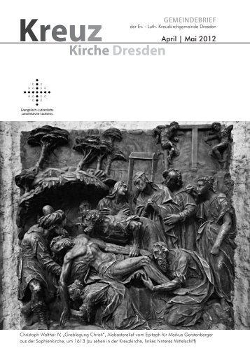 Gemeindebrief April-Mai 2012 - Kreuzkirche Dresden