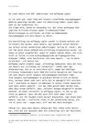 """Ad """"Hans Meyers zum 100. Geburtstag"""" von Wolfgang Legler Es ist ..."""
