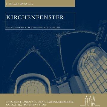 kirchenfenster - in der Evangelischen Kirchengemeinde Sophien