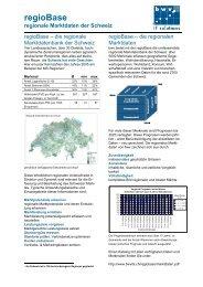 regioBase regionale Marktdaten der Schweiz - bwv its GmbH