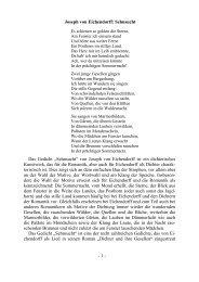 Joseph von Eichendorff: Sehnsucht Das Gedicht ... - MPG Trier