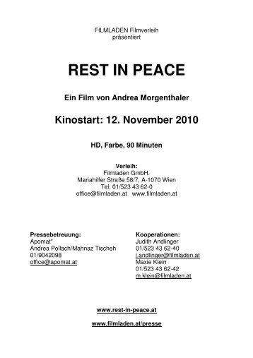 REST IN PEACE - Filmladen