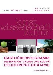 gasthörerprogramm studienprogramme - Universität Kassel