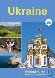 Ukrainereisen 2013 - Dreizackreisen Katalog