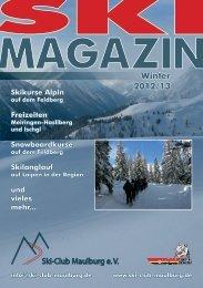 und Outdoormagazin 2013 - Ski-Club Maulburg eV