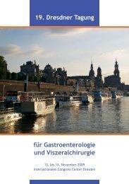 für Gastroenterologie und Viszeralchirurgie - Medizinische Klinik I ...