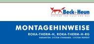 MONTAGEHINWEISE - Beck+Heun