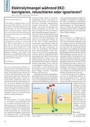 Elektrolytmangel während EKZ: korrigieren, retuschieren oder ...