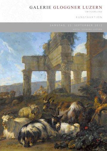 Auktionskatalog 2012 (4'882 kB - pdf) - Galerie Gloggner Luzern