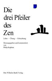 Philip Kapleau - Die drei Pfeiler des Zen